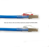 15FT Blue CAT6 250MHz Patch Cable F/UTP CM Locking Snagless -- C6PC70S-BL-15 - Image