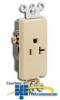 Leviton Single Receptacle, Side Wired , Self-Grounding.. -- 16341