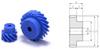 Plastic Screw Gears (metric) -- KPN2-13L -Image
