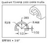 UHMW Natural Half Round -- EPP301 -- View Larger Image