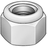 Lock Nut,Nylon Insert,Steel,M30 x 3.5mm -- 5GAZ4