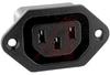 Outlet; Screw Mount; 15 A; 250 VAC; gt 100 Megohms @ 500 VDC -- 70133347