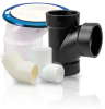 Black Polypropylene Tee Fittings - Image