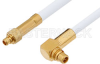 MMCX Plug to MMCX Plug Right Angle Cable 60 Inch Length Using RG188 Coax -- PE34889-60 -Image