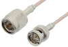 75 Ohm TNC Male to 75 Ohm BNC Male Cable 12 Inch Length Using 75 Ohm RG179 Coax, RoHS -- PE35362LF-12 -Image