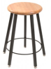 5-Legged Solid Welded Fixed Square Tube Stool