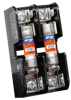 Fuse Holders, Fuse Bases and Supports: 303 Series Class CC/Midget Open-Style Fuse Blocks - Midget -- 30313