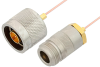 N Male to N Female Cable 12 Inch Length Using PE-047SR Coax, RoHS -- PE34287LF-12 -Image