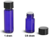 Blue Glass Vials w/ Orifice Reducer -- 4063-52B