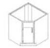 Standard Steel Laboratory Cabinet, Chamferred Corner Cabinet -- BC10S Series - Image