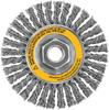 """4"""" x 5/8""""-11 XP .020 Carbon Cable Twist Wire Wheel -- DW49253 - Image"""