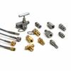 Male M14 x 1.5mm x Male Quick-test adapter, brass -- QTHA-MMB0-1415
