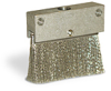 "Flat Brush With Holder, 2 1/4"" x 3/8"" Stainless Steel Bristles, 1/8"" Female NPT Inlet -- A2258-1X01 -- View Larger Image"