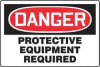 Danger Sign,24 x 36In,R and BK/WHT,ENG -- 3ZYX7