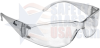 ERB Boas Safety Glasses with Clear Frame and Clear Lens -- 15284