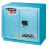 Justrite Chemcor 23 gal Blue Hazardous Material Storage Cabinet - 36 in Width - 35 3/4 in Height - 697841-12077 -- 697841-12077