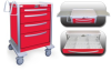 4 Drawer Medium Lightweight Aluminum Crash Cart -- UMRLA-3669-RED