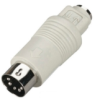 Mini DIN Adapter, 6-Pin Mini DIN Female to 5-Pin DIN Male -- FA212-R2