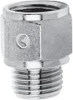 Nickel Plated Brass Pipe Fitting -- 2521 3/8-1/2 -- View Larger Image