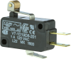MICRO SWITCH V7 Series Miniature Basic Switch, Single Pole Double Throw Circuitry, 1 A at 125 Vac, Roller Lever Actuator, 180 gf Maximum Operating Force, Gold Contacts, Quick Connect Termination -- V7-1D19D8-201 -- View Larger Image