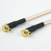 RA MMCX Plug to RA MMCX Plug Cable RG-316 Coax in 6 Inch and RoHS -- FMC1919315LF-06 -Image