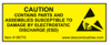 """Caution Equipment Containing ESDS"", 3/4"" x 2"", Yellow -- #06770 -- View Larger Image"