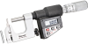 790MEAFL-25 Electronic Multi-Anvil Micrometer with Standard Millimeter Graduations on Shell and Thimble with Round and Flat Anvil -- 66071