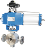 RVB Series Steam Jacketed Type Segment Ball Control Valve