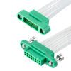 10+10 Pos. Male DIL 26AWG Cable Assembly, 150mm, Female 2nd end, Screw-Lok -- G125-MC12005M1-0150F1 - Image