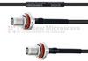 SMA Female Bulkhead to SMA Female Bulkhead MIL-DTL-17 Cable M17/119-RG174 Coax in 36 Inch -- FMHR0110-36 -Image