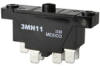 MN Series Basic Switch, Double Pole Double Throw Double Break Circuitry, 15 A at 480 Vac, Pin Plunger Actuator, 1,95 N - 3,1 N [7 oz - 11 oz] Operating Force, Gold Contacts, Quick Connect Termination -- 3MN11 -Image
