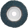 Merit ZA Coarse Center Mount Aluminum Conical Flap Disc -- 08834193430 - Image