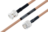 MIL-DTL-17 BNC Male to TNC Male Cable 60 Inch Length Using M17/128-RG400 Coax -- PE3M0063-60 -Image