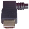 High Speed HDMI® Cable with Ethernet, Male/ Right Angle Male, Left Exit 0.5 M -- HDRA2-0.5 -Image