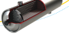 PRISM® PA Nitrogen Membrane Separator Module with ¾-inch BSPP Connections, 316L Stainless Steel Shell and Cap -- PA4050-P3-6F-DS -- View Larger Image
