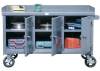Mobile Work Bench With 3 Locking Doors -- 52.10-3MS-301-SG-CA