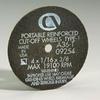 Portable Machines - Gold Reinforced Aluminum Oxide Abrasive -- Cut-off Wheels