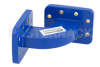WR-90 Commercial Grade Waveguide H-Bend with CPR-90G Flange Operating from 8.2 GHz to 12.4 GHz -- PE-W90B004 - Image