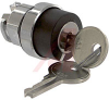 Switch, 22mm, KEY OPERATOR, 2 Position,MAINT./MAINT., KEY REMOVAL POS. 1,2 -- 70006979