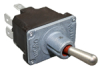 MICRO SWITCH NT Series Toggle Switch, 2 pole, 3 position, Quick Connect terminal, Standard Lever -- 32NT91-12 -Image
