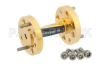 WR-10 45 Degree Right-hand Waveguide Twist With a UG-387/U-Mod Flange Operating From 75 GHz to 110 GHz -- PE-W10TW1003 - Image