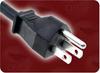 2m 0.75mm/3 VCTF BLACK NACC TAIWAN TO IEC-60320-C5 POWER CORD -- 7502.079