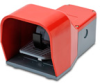 On-Off Foot Switch: single plastic pedal with red metal guard -- APS1244-V0-M