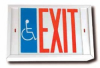 Special ADA Signage with Red and Blue Legend on White Panel -- ADA Signage, Three Color