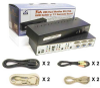 Linkskey Dual Monitor (DVI+VGA) 7.1 Surround Sound KVM Switch w/ Cables -- LDV-DM712AUSK - Image