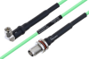 Temperature Conditioned SMA Male Right Angle to TNC Female Bulkhead Low Loss Cable 18 Inch Length Using PE-P160LL Coax -- PE3M0199-18 -Image