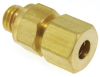 1/4-28 Thread to 4mm O.D. Tubing, Straight Compression -- MCB-4MM-1428. -Image