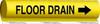 Non Adhesive Pipemarker,Floor Drain -- 14H850