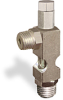 """(Formerly B1628-8X-TP), Angle Small Sight Feed Valve, 1/4"""" Male NPT Inlet, 1/4"""" Male NPT Outlet, Tamperproof -- B1628-144B1TW -Image"""