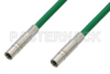 75 Ohm Mini SMB Plug to 75 Ohm Mini SMB Plug Cable 12 Inch Length Using 75 Ohm PE-B159-GR Green Coax -- PE38139/GR-12 -Image